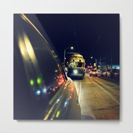 Trolly Chaser Metal Print