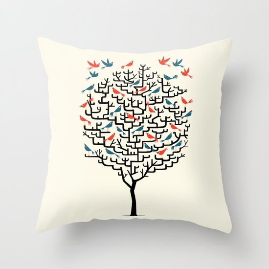 Out On a Lark Throw Pillow