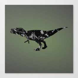 T-rex - black and gray Canvas Print