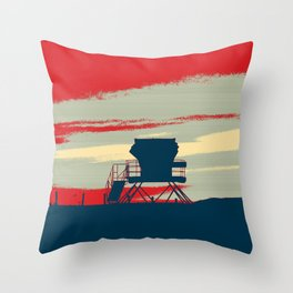 Tower Graphic Throw Pillow