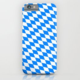 Bavarian Blue and White Diamond Flag Pattern iPhone Case