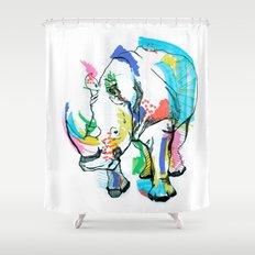 Rhino colour Shower Curtain