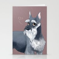 schnauzer Stationery Cards featuring Schnauzer by Bark Point Studio