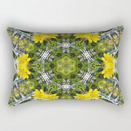 Kaleidoscope of showy St Johns Wort Rectangular Pillow