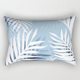 Tropical bliss - chambray blue Rectangular Pillow
