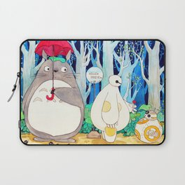 BB8 Baymax Cute human friends from movies  Laptop Sleeve