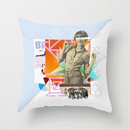 The yé-yé girl Throw Pillow