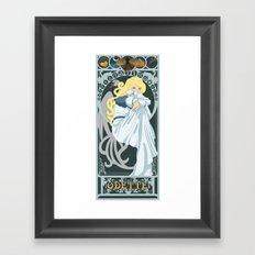 Odette Nouveau - Swan Princess Framed Art Print
