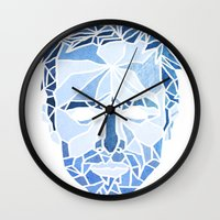 jesse pinkman Wall Clocks featuring Crystallized Morality - Jesse Pinkman by Tyler Schmidt