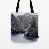 twin peaks Tote Bags featuring Twin Peaks by Roger Wedegis