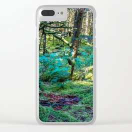Tree Stump in the Woods Clear iPhone Case
