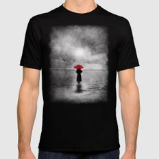 waiting in the sea II  -  by Viviana Gonzalez Mens Fitted Tee SMALL Black