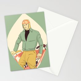 Motorcycle Man Stationery Cards