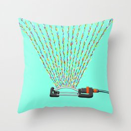 Sprinkles Sprinkler Throw Pillow