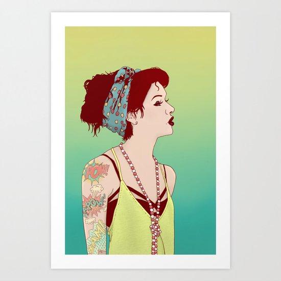 Pop Art Lady Art Print