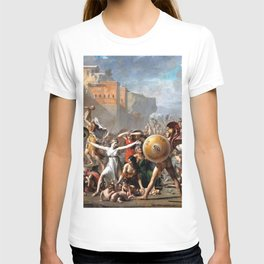 Jacques-Louis David - The Intervention of the Sabine Women - Digital Remastered Edition T-shirt