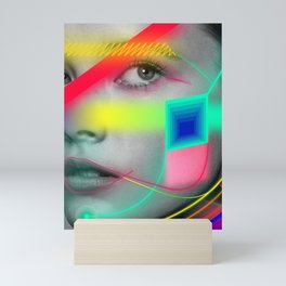 Neon portrait Mini Art Print