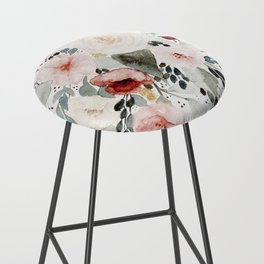 Loose Watercolor Bouquet Bar Stool