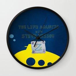 life aquatic with steve zissou flag Wall Clock