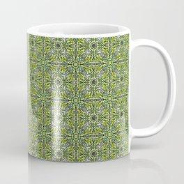 Techy doodle - repeating toolbox pattern - green Coffee Mug