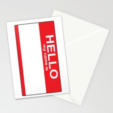 HELLO my name is...white background Stationery Cards
