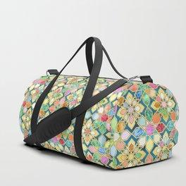 Gilded Moroccan Mosaic Tiles Duffle Bag