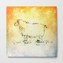 Draw me a sheep Metal Print