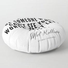 15    Mel Robbins Quotes   190802 Floor Pillow