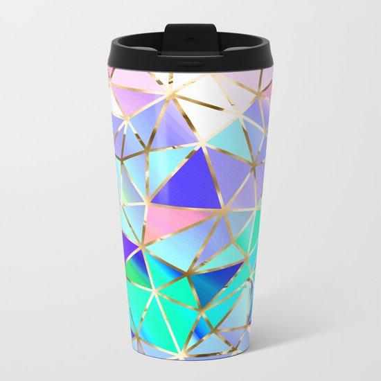 Rainbow Geometric pattern #6 Metal Travel Mug