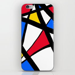 Red, Yellow, Blue Primary Abstract iPhone Skin