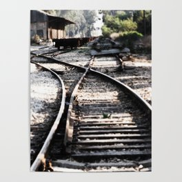 Abandoned Rail Tracks Poster