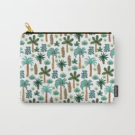 Tropics palm trees pattern print summer tropical vacation design by andrea lauren Carry-All Pouch