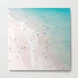 Beach - Summer Love II - Aerial Beach and Ocean photography by Ingrid Beddoes Metal Print