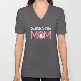 Guinea Pig Mom Rodent Guinea Pig Unisex V-Neck