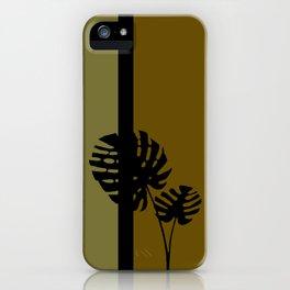 """Minimal retro tiki monstera"" iPhone Case"