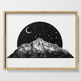 Mountain and the Moon Serving Tray