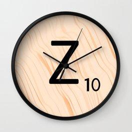 Scrabble Letter Z - Scrabble Art and Apparel Wall Clock