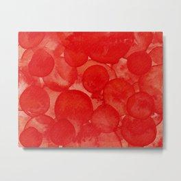 True Red Watercolour Metal Print