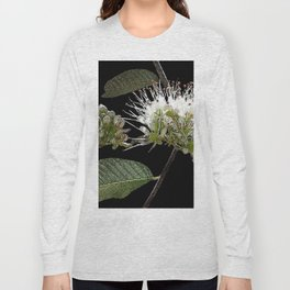 White Floral Watercolor Long Sleeve T-shirt