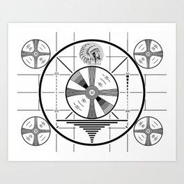 Indian Head Test Pattern Art Print