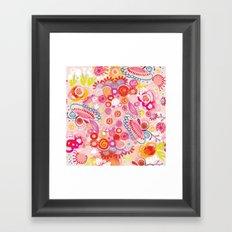 Vibrant summer Framed Art Print
