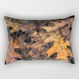 Leaves in a Rock Pool Rectangular Pillow