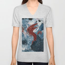 Cheerful Sea Dragon Unisex V-Neck