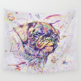 Pug Dog // Pugression Wall Tapestry