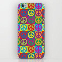 Pop Art Peace Symbols iPhone Skin