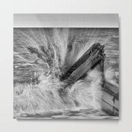 Crashing wave Metal Print