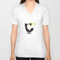 egg V-neck T-shirts featuring Egg by bri musser