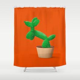 Cactus dog Shower Curtain
