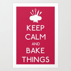 Bake Things Art Print
