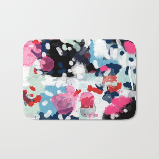 Paige - abstract painting hipster home decor trendy color palette art gifts Bath Mat